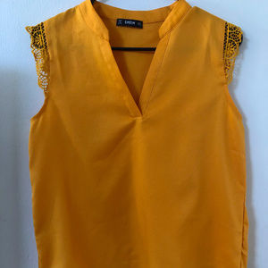 SHEIN Mustard Yellow blouse